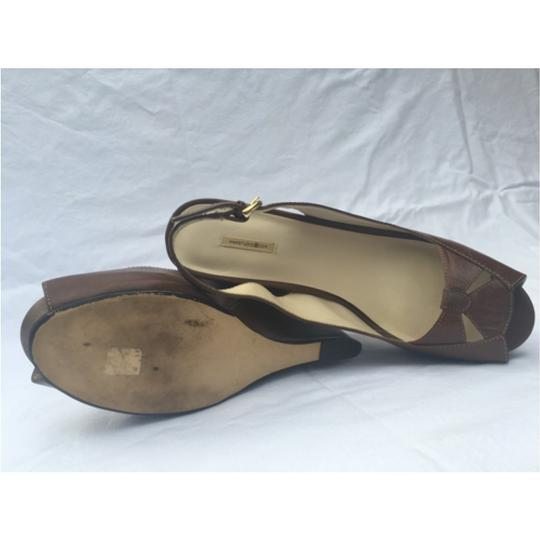 Max Studio Leather Tobacco brown Wedges Image 1