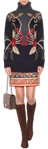 Tory Burch Embroidered Mini Skirt MULTICOLOR