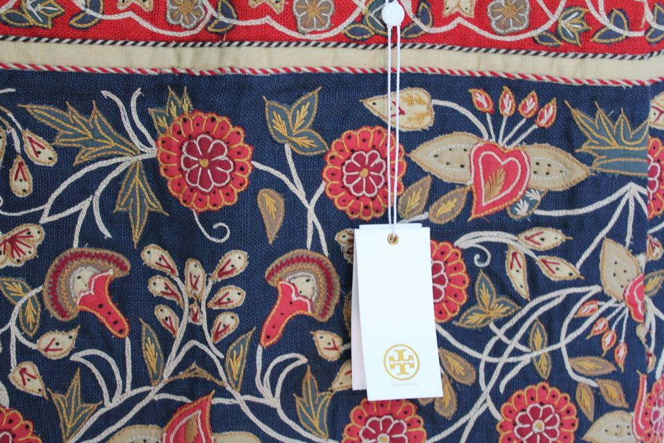 Tory burch multicolor embroidered new tags floral applique wade