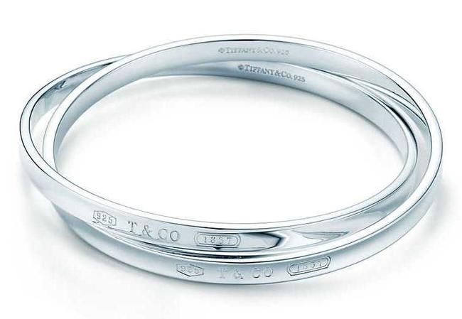 Item - Sterling Silver 1837 Interlocking Circles Bangle Bracelet
