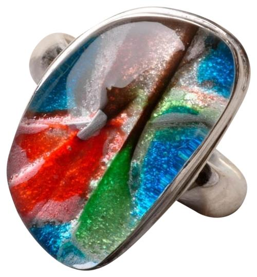 Other DICHROMATIC GLASS 925 STERLING SILVER RING SZ 6