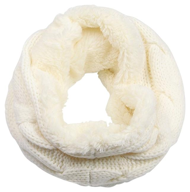 Item - Winter White Luxe Cozy Cable Knit Faux Fur Infinity Scarf/Wrap