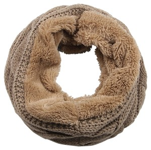 Aris Aris Luxe Cozy Cable Knit & Faux Fur Infinity Scarf #B018RNPL5A