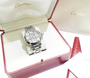 Cartier Authentic Pasha Original Grid Automatic Stainless Steel Watch 2379