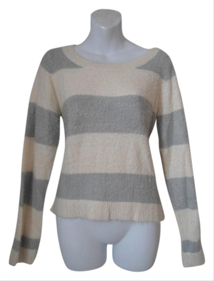 0cb45f9ac8 LC Lauren Conrad Cream and Gray No Sweater Pullover Size 10 (M ...