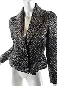 Dries van Noten Metallic Quilted Jacket Black Metallic Blazer