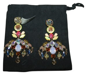 J.Crew J.CREW COLORFUL CRYSTAL CHANDELIER EARRINGS MULTI COLOR