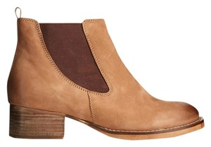 ASOS Leather Ankle Elastic Tan Boots