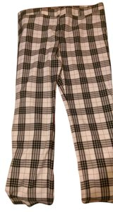 Worthington Straight Pants Beige and Black