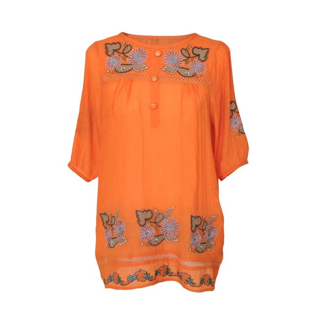 Preload https://img-static.tradesy.com/item/1091091/orange-blouse-with-floral-embroidered-design-and-button-front-tunic-size-16-xl-plus-0x-0-1-650-650.jpg