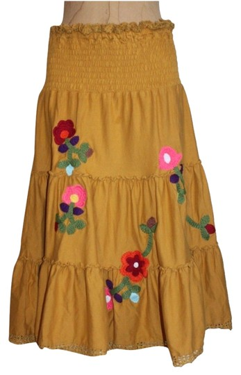 Lucca Tiered Embroidered Skirt - 72% Off Retail new
