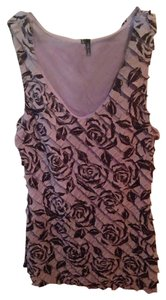 Maurices Ruffle Floral Top Purple and black
