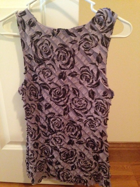 Maurices Floral Top Purple and black