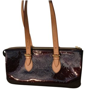 Louis Vuitton Leather Patent Leather Tote in Amarante (Deep Purple)