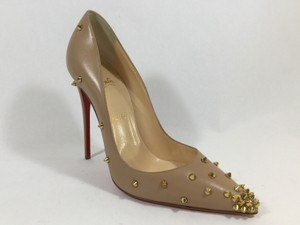 Christian Louboutin Degraspike Spikes Nude Pumps