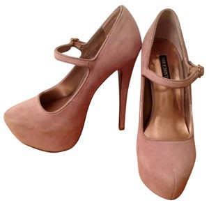 Shoemint Blush Suede Pumps