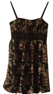 Johnny Martin short dress Black floral on Tradesy