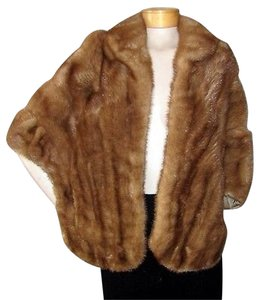 Autumn Haze Vintage Fur Mink Cape