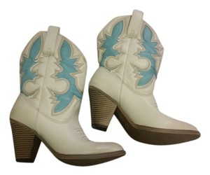 Mia Shoes Cream & Aqua Boots