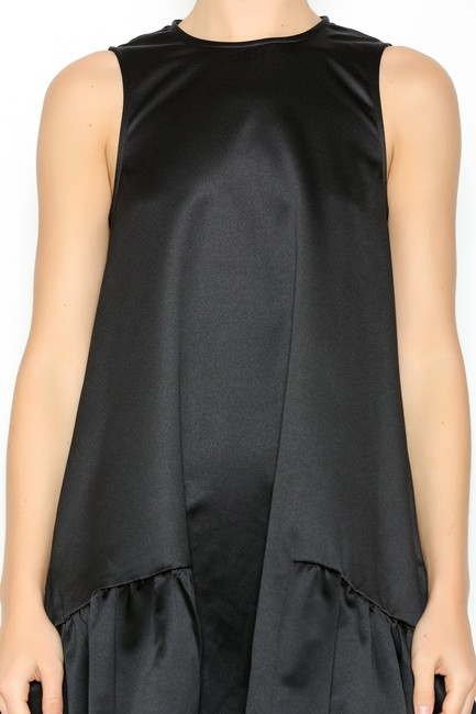 FRNCH Ruffle Pockets Party Satin Holiday Dress Image 2