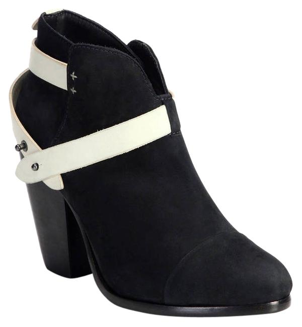 Rag & Bone Black/White Suede Harrow Ankle 36.5) Boots/Booties Size US 6.5 Rag & Bone Black/White Suede Harrow Ankle 36.5) Boots/Booties Size US 6.5 Image 1
