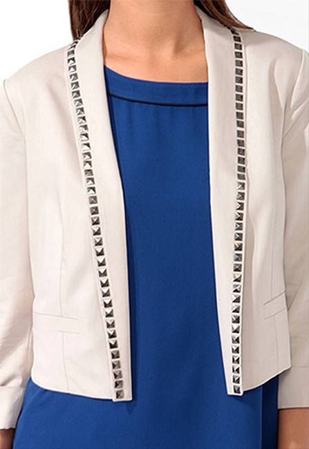 Forever 21 Studded Night Out Date Night Off White Blazer