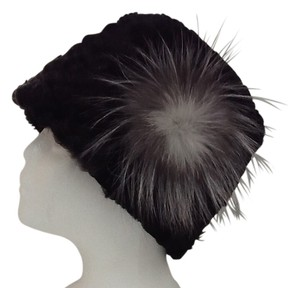 HAND MADE NATURAL BLACK/ GRAY PERSIAN SHEEP WOMAN'S HAT SIZE L/XL NEW WITH TAG