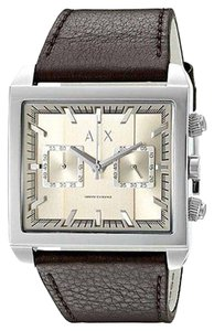 A|X Armani Exchange Armani Exchange Tenno Chronograph Leather Mens Watch Ax2224
