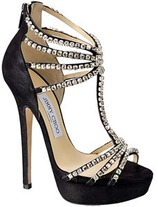 Jimmy Choo Designer Heels Black Sandals