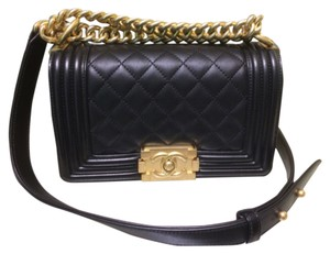 Chanel Le Boy Quilted Cross Body Bag