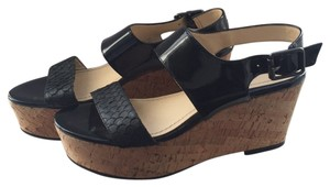 Calvin Klein Black with cork sole Sandals