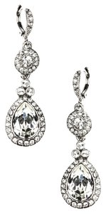 Givenchy Givenchy Rhodium Swarovski Crystal Teardrop Dangle Earrings NWT$48 Bridal/Formal