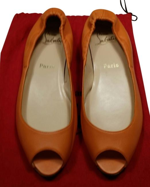 Item - Orange Flats Size US 8.5 Regular (M, B)