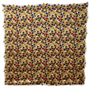 Chanel Price Just Lowered VINTAGE Chanel multicolor jewel print silk scarf