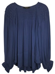 Isabel Marant Silk Top Navy
