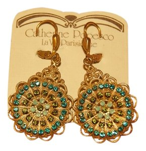 La Vie Parisienne La Vie Parisienne Bohemian Austrian Blue & Green Crystal Earrings