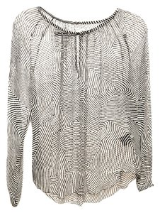 Isabel Marant Black White Silk Top