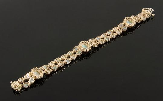 Other 14KYG Opal and Diamond Bracelet with Locking Clasps Image 7