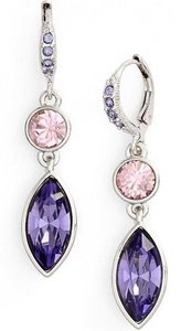 Givenchy Givenchy Pink and Purple drop earrings
