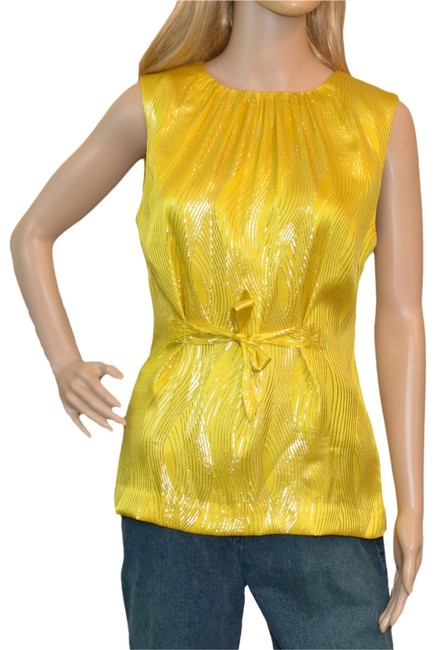 Preload https://item4.tradesy.com/images/tory-burch-yellow-blouse-size-6-s-1091623-0-0.jpg?width=400&height=650