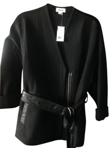 Helmut Lang Kimono Leather Rafter Belted Leather Jacket