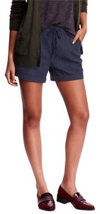 Old Navy Cuffed Shorts Blue/White