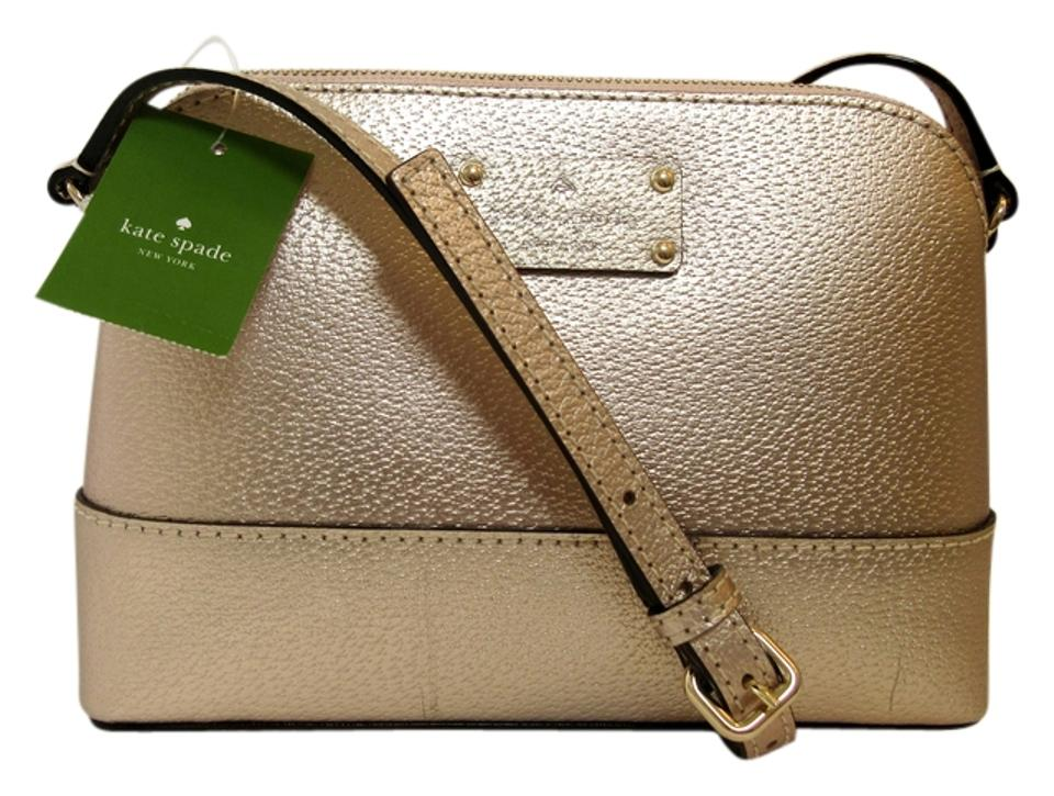 df087b9ea1 Kate Spade Hanna Wellesley Rose Gold Gold Leather Cross Body Bag ...
