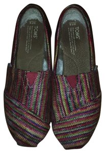 TOMS Multi colored- fuzzy inside Flats