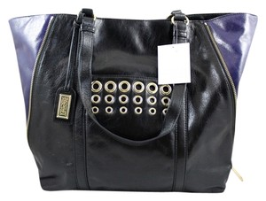 Badgley Mischka Color-blocking Tote in Black