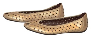 Donald J Pliner Gold leather Flats