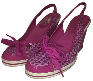 Coach Casual Purple Wedges