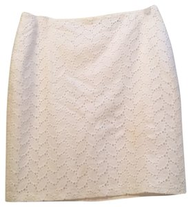 Tahari Mini Skirt White