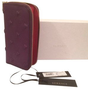 Versace Embossed Medusa Zipper Wallet