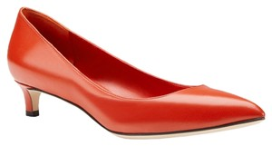 Gucci Us 8.5 Eu 38.5 Leather Pount Toe Red Pumps